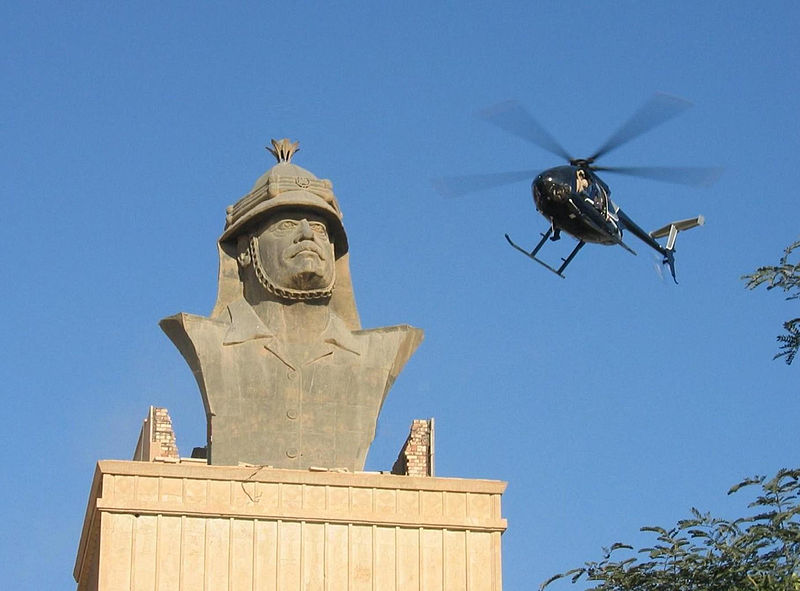 Blackwater helicopter over the Republican Palace in BaghdadCredit: jamesdale10