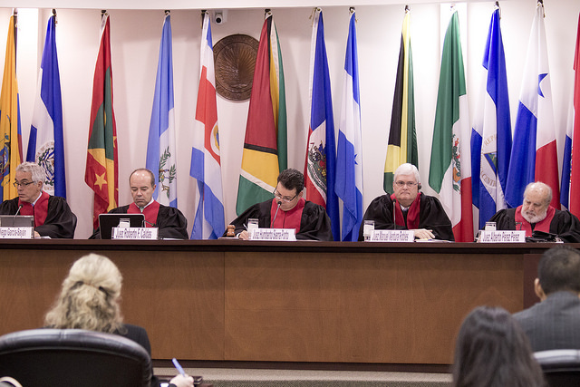 The Inter-American Court of Human Rights holds a hearing in the Gudiel Ramos case.Credit: IACtHR