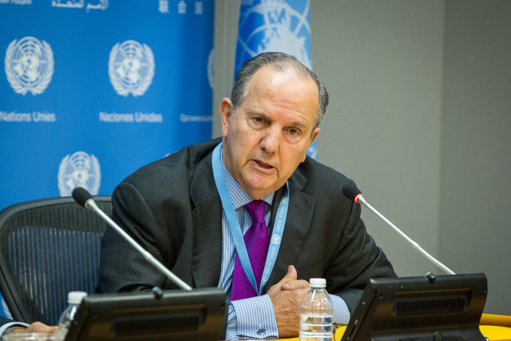 Juan Mendez, Special Rapporteur on torture and other cruel, inhuman or degrading treatment or punishment Credit: UN Photo/Loey Felipe
