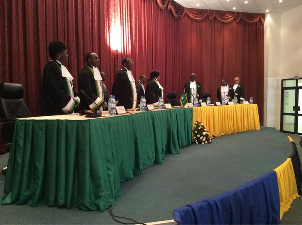 Composition of the African Court on Human and Peoples' Rights in the case of Alex Thomas v. Tanzania.Credit: AfCHPR