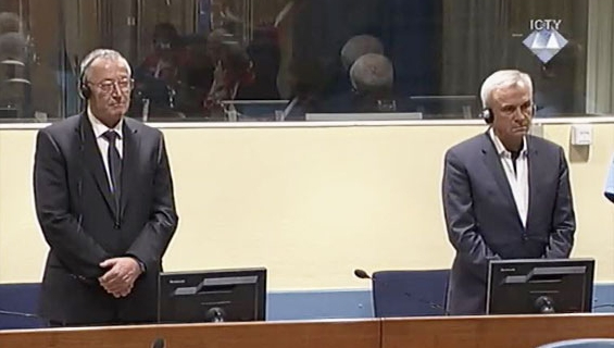 Franko Simatović and Jovica Stanišić at the ICTYCredit: ICTY