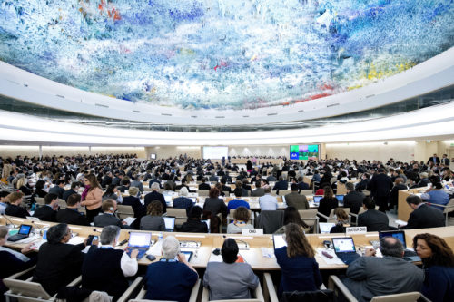 A general view during the 23th Session of the Human Rights Council. 27 May 2013. Photo by Jean-Marc FerrŽ