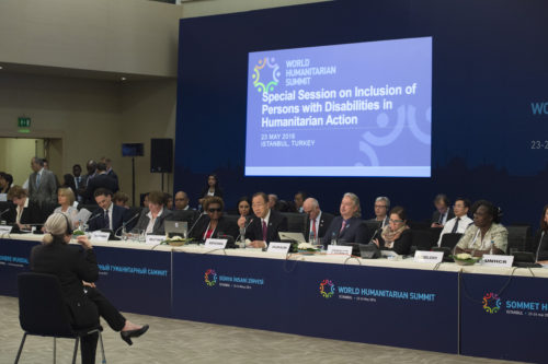 Secretary-General Ban attends Special Session 3: Inclusion of Persons with Disabilities into Humanitarian Action.