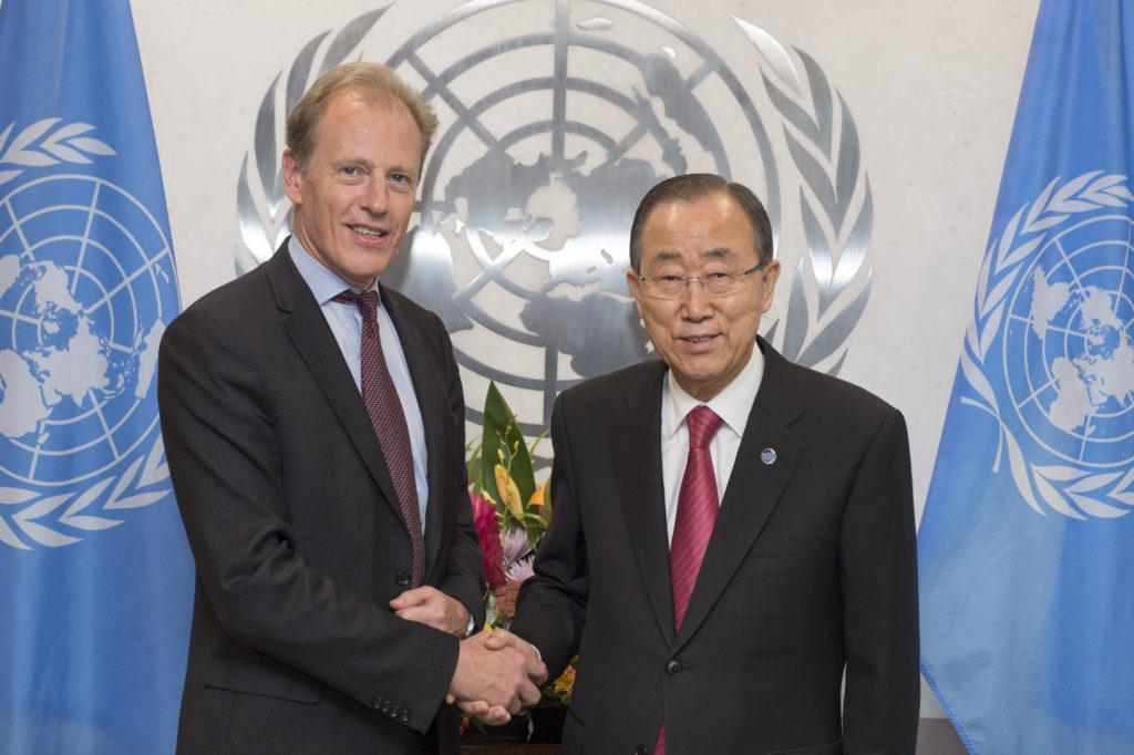 Secretary General Ban Ki-moon and Andrew Gilmour Credit: UN Photo/Eskinder Debebe