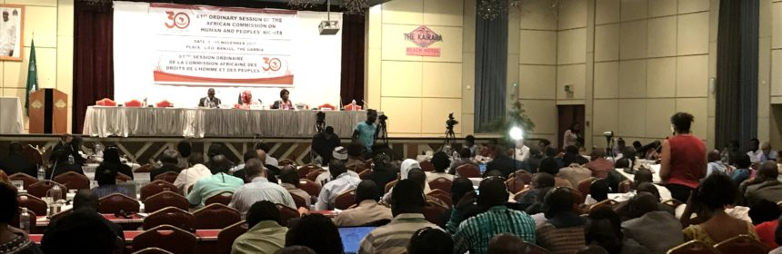 CAL representative addresses ACHPR