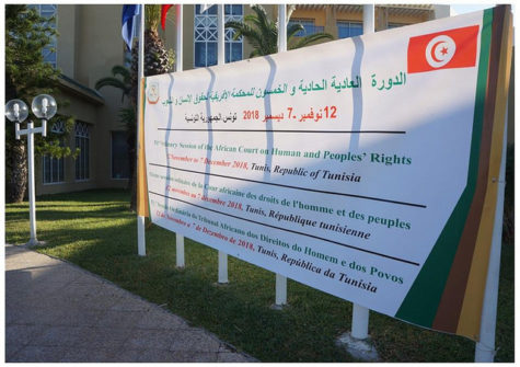 African Court on Human and Peoples' Rights session banner