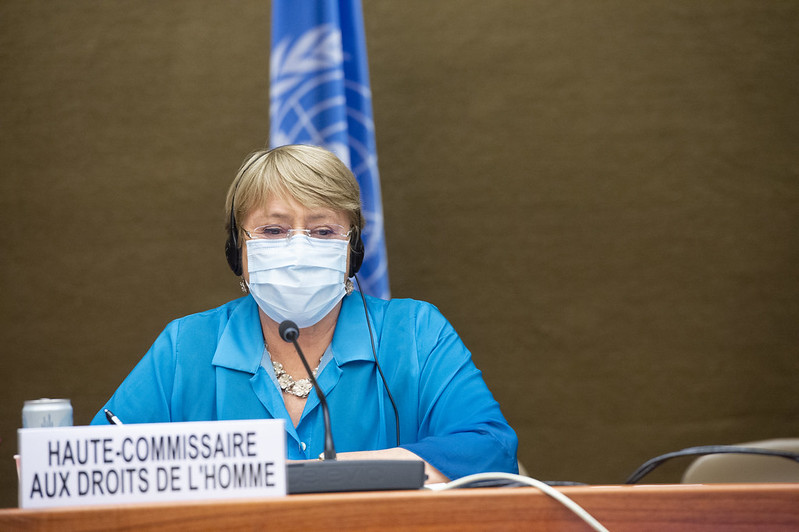 High Commissioner for Human Rights addresses the Human Rights Council in June 2021